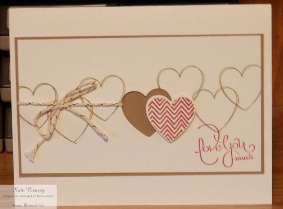 Heart cutout Valentine