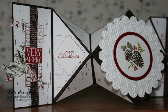Diamond fold card left side view