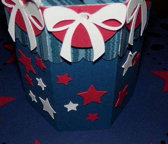 Fireworks pencil holder bunting