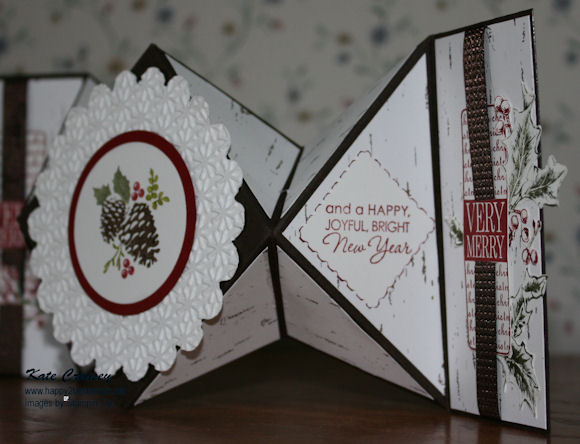 Diamond Fold Card right side view