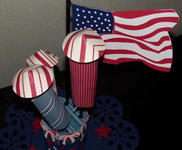 Fireworks pencil holder top view