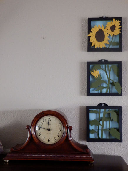 Sunflower Shadow Boxes