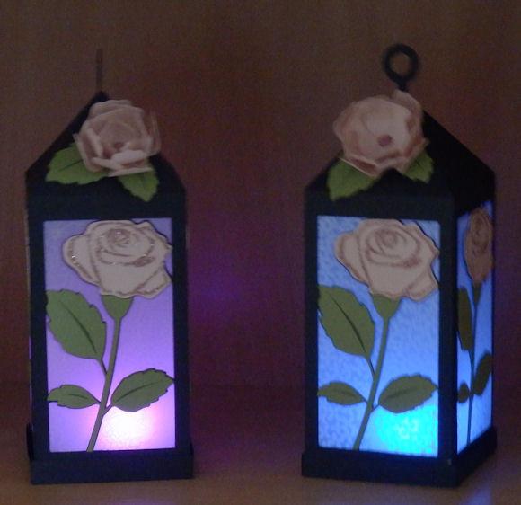 Rose Lantern multi colored tea light