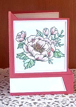Birthday Blossoms Corner Fold Card