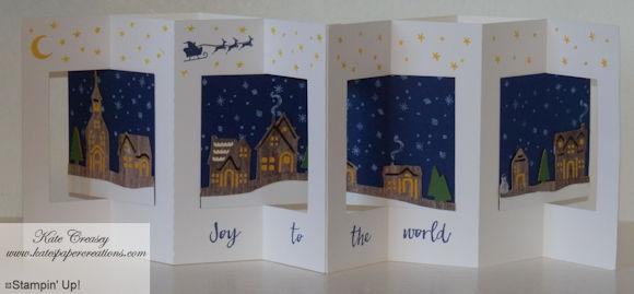 Lever fold card embellished