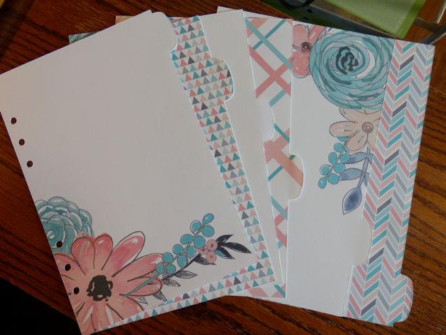 Planner diveder pages