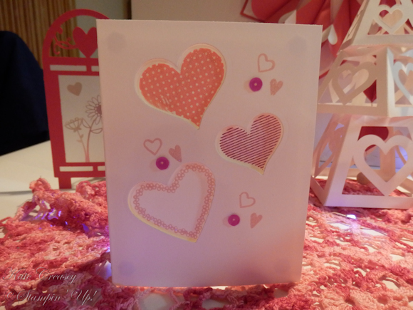 Love is in the air card close up