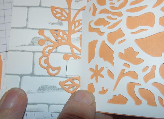 Bendy card marking where to cut slit
