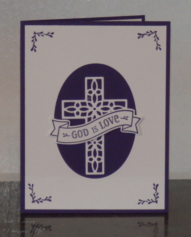Cross of Hope Hold On To Hope Elegant Eggplant