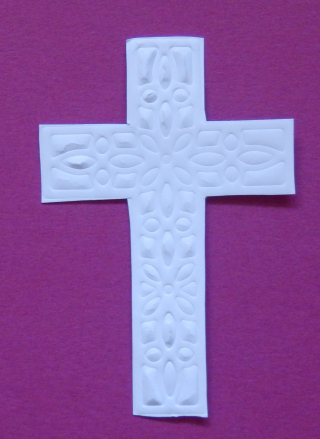 Embossed cross