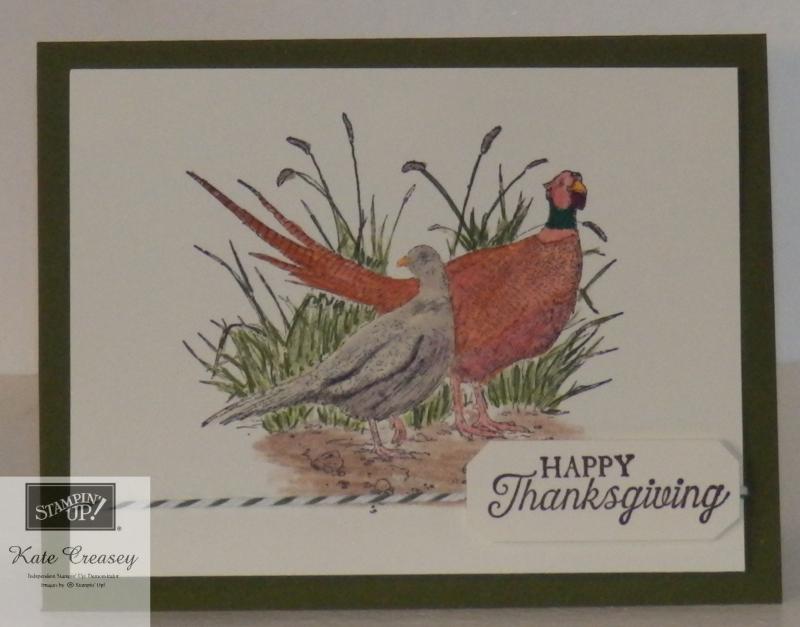 Pleasant Pheasants Happy Thanksgiving